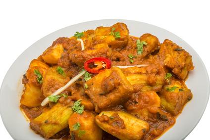 Aubergines au curry