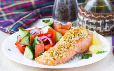 Filets de saumon en croûte d'herbes