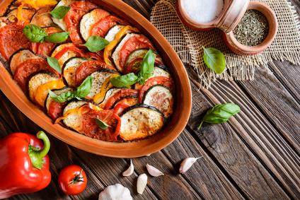 Gratin d'aubergines tomate mozzarella