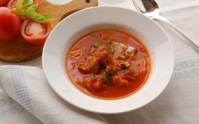 Lotte aux tomates et au safran