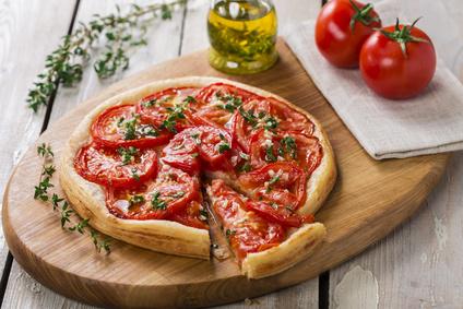 Tarte à la tomate et moutarde aux flocons d'avoine